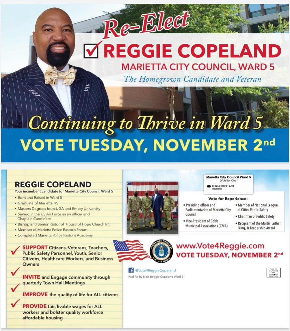 Re-Elect Reggie Copeland - Ward 5